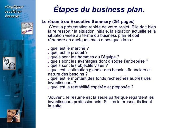Qu'est-ce qu'un exemple de business plan?